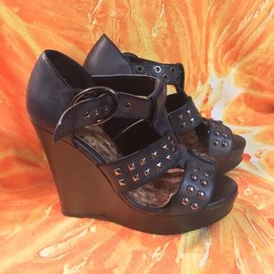 6 bada$$ studded wedge sandals